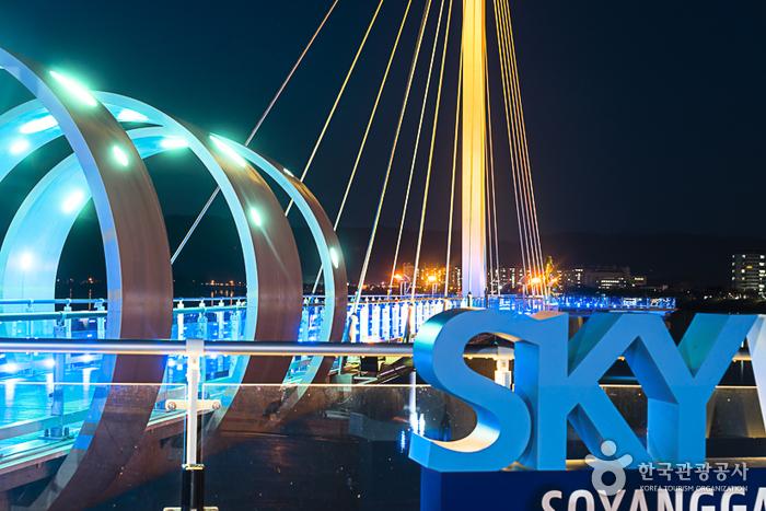 소양강스카이워크의 밤 풍경