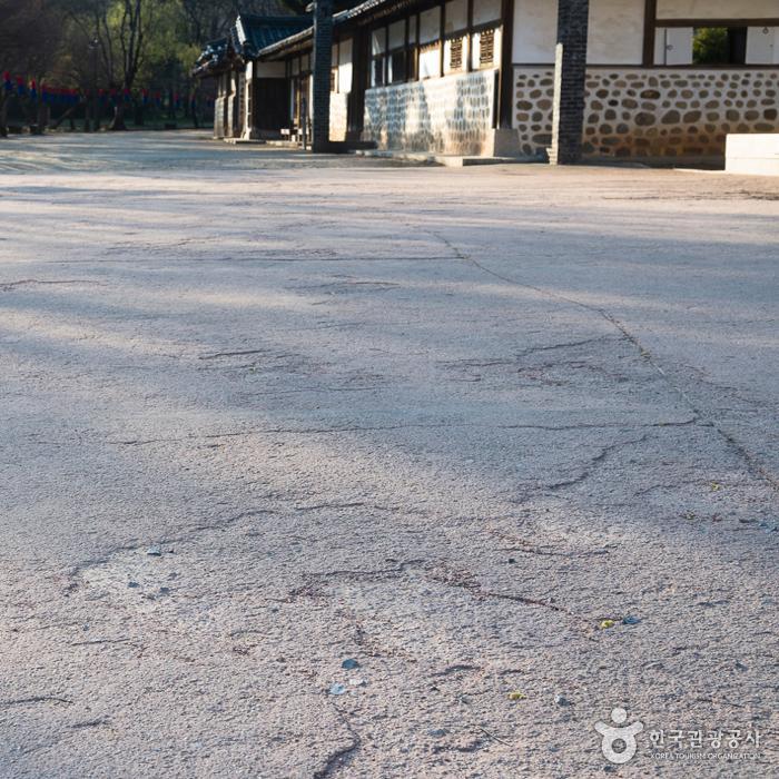장릉 단종역사관 부근 바닥