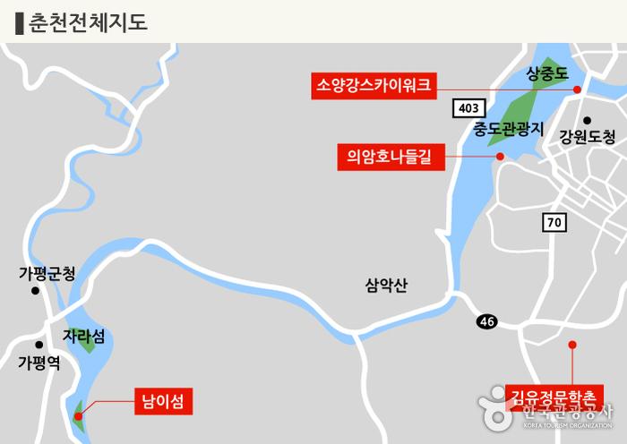 춘천 전체 지도