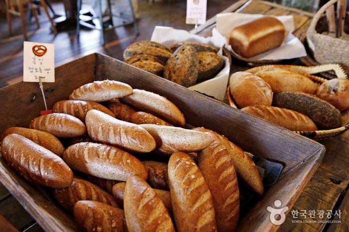구례 밀로 구워낸 다양한 빵들
