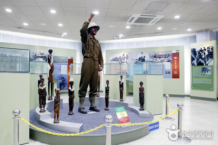 에티오피아 군의 한국전 파병 과정과 전공을 기록한 참전기념전시실