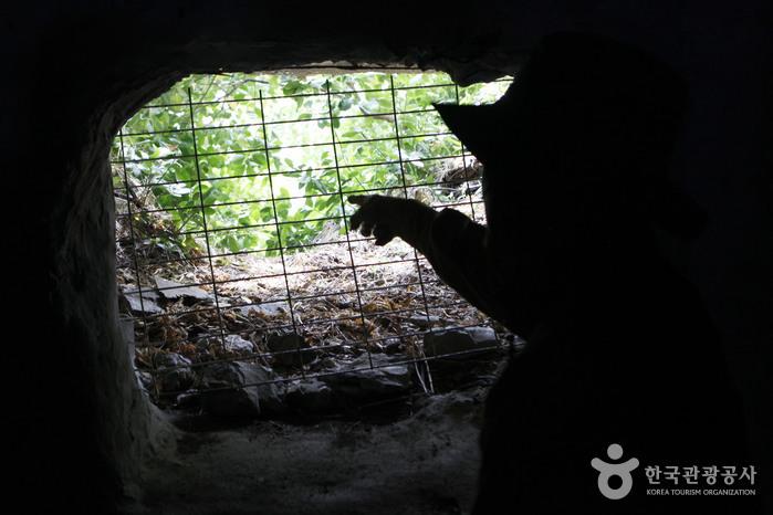 대항새바지 요새 동굴의 총안구