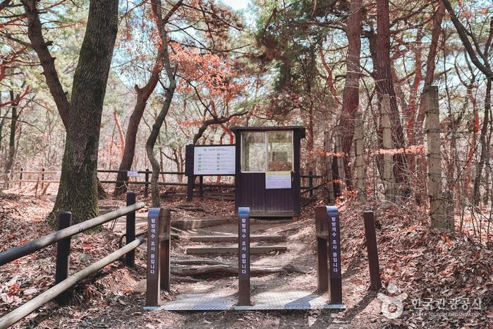 북한산 등산 코스로 나누어지는 구간.