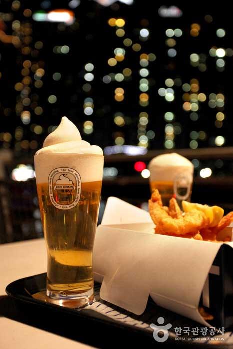 새우튀김과 맥주