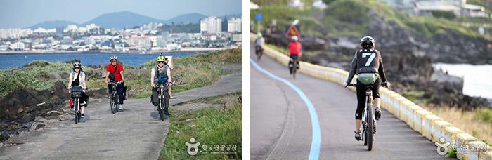자전거 여행은 제주도를 여행하는 새로운 도전이다