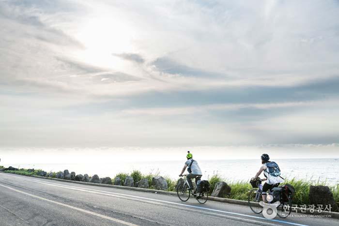 풍경을 즐기며 유유자적 달리는 길