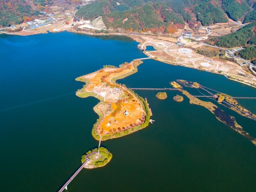 양구 파로호 한반도 섬1