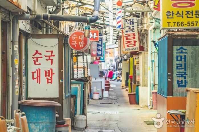동인천역 앞 송현동 순대골목