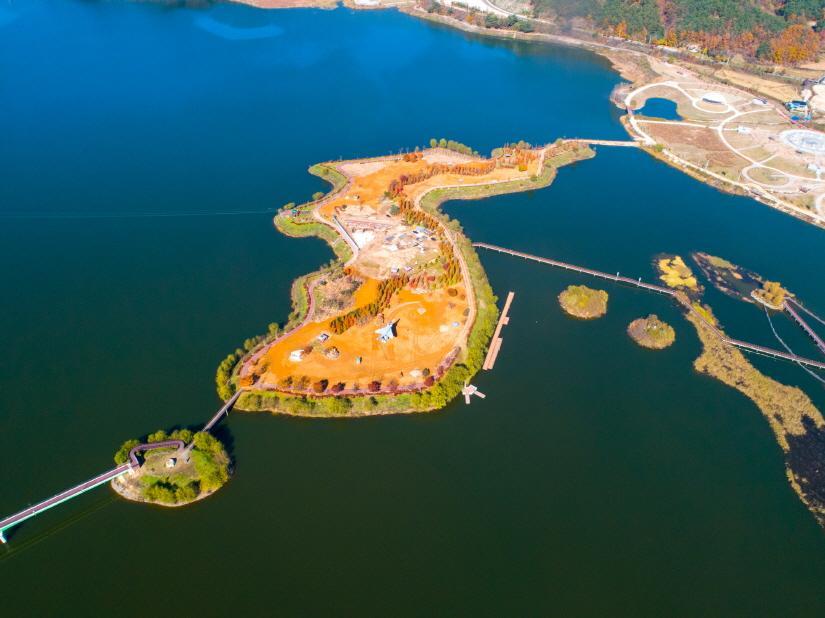 양구 파로호 한반도 섬2